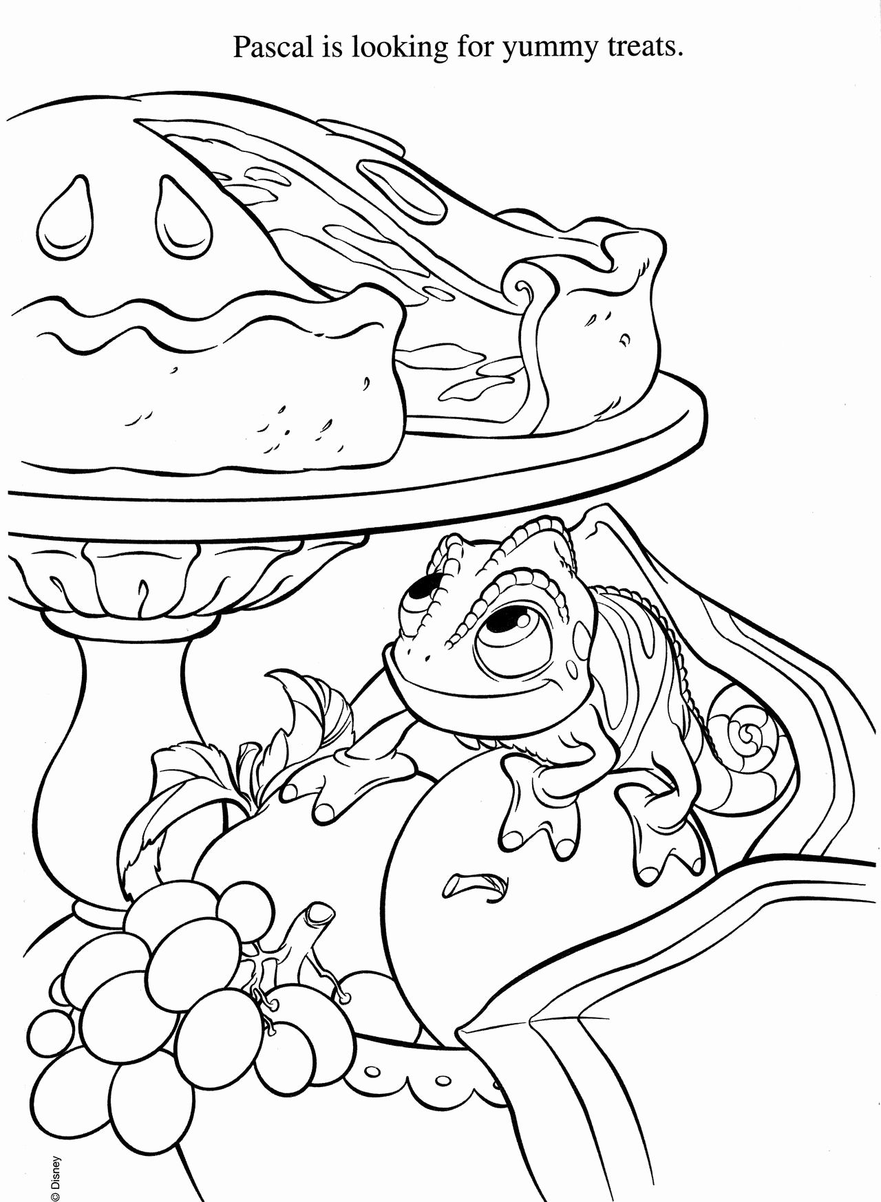 Disney Coloring Pages For Kids Pascal In