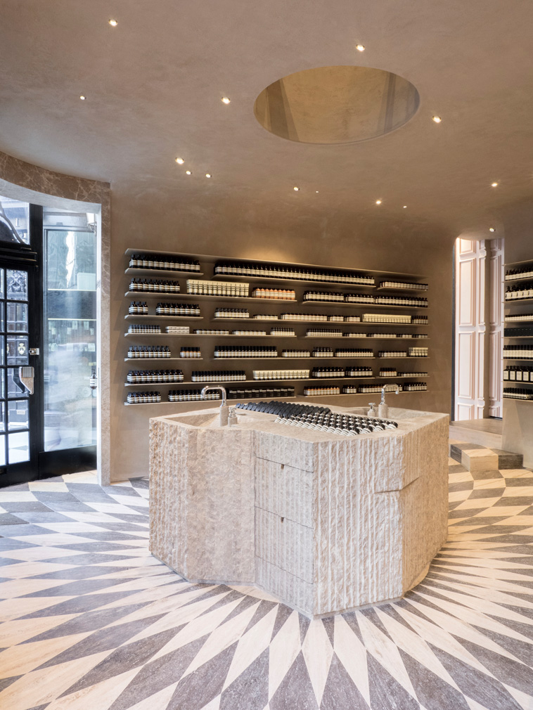 Studio Luca Guadagnino Designs Aesop S Piccadilly Store With