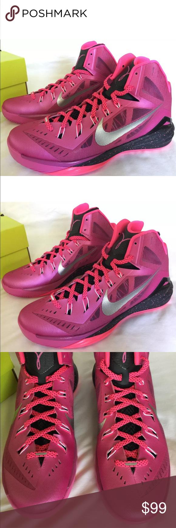 buy popular eab76 b87c1 brand new Nike Hyperdunk Pink Fire Basketball brand new Nike Hyperdunk 2014  653640-608 BCA Pink Fire Basketball Shoes Men s Size 9.5 Breast Cancer  Awareness ...