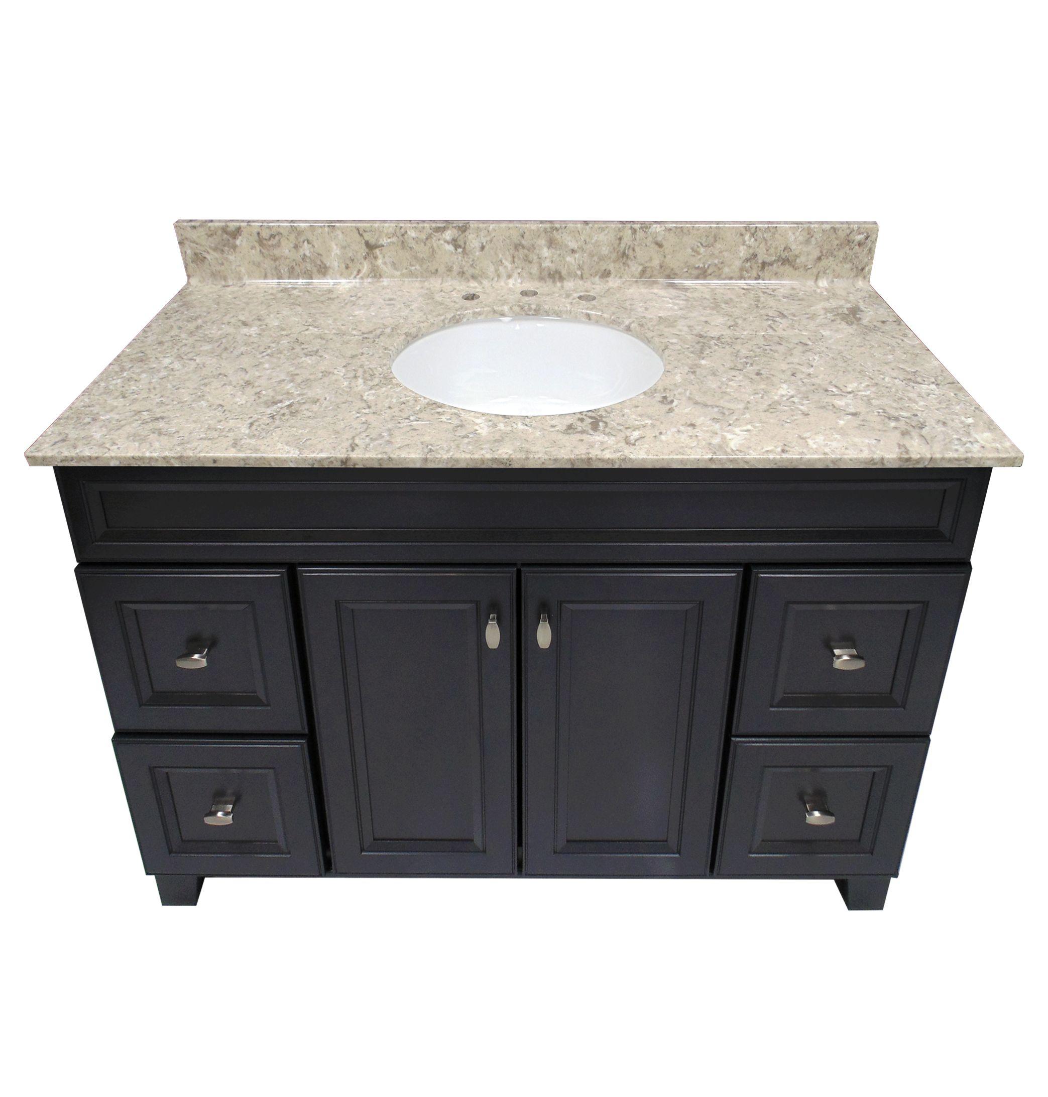 Us marble river bottom cultured veined granite vanity top - Cultured marble bathroom vanity tops ...
