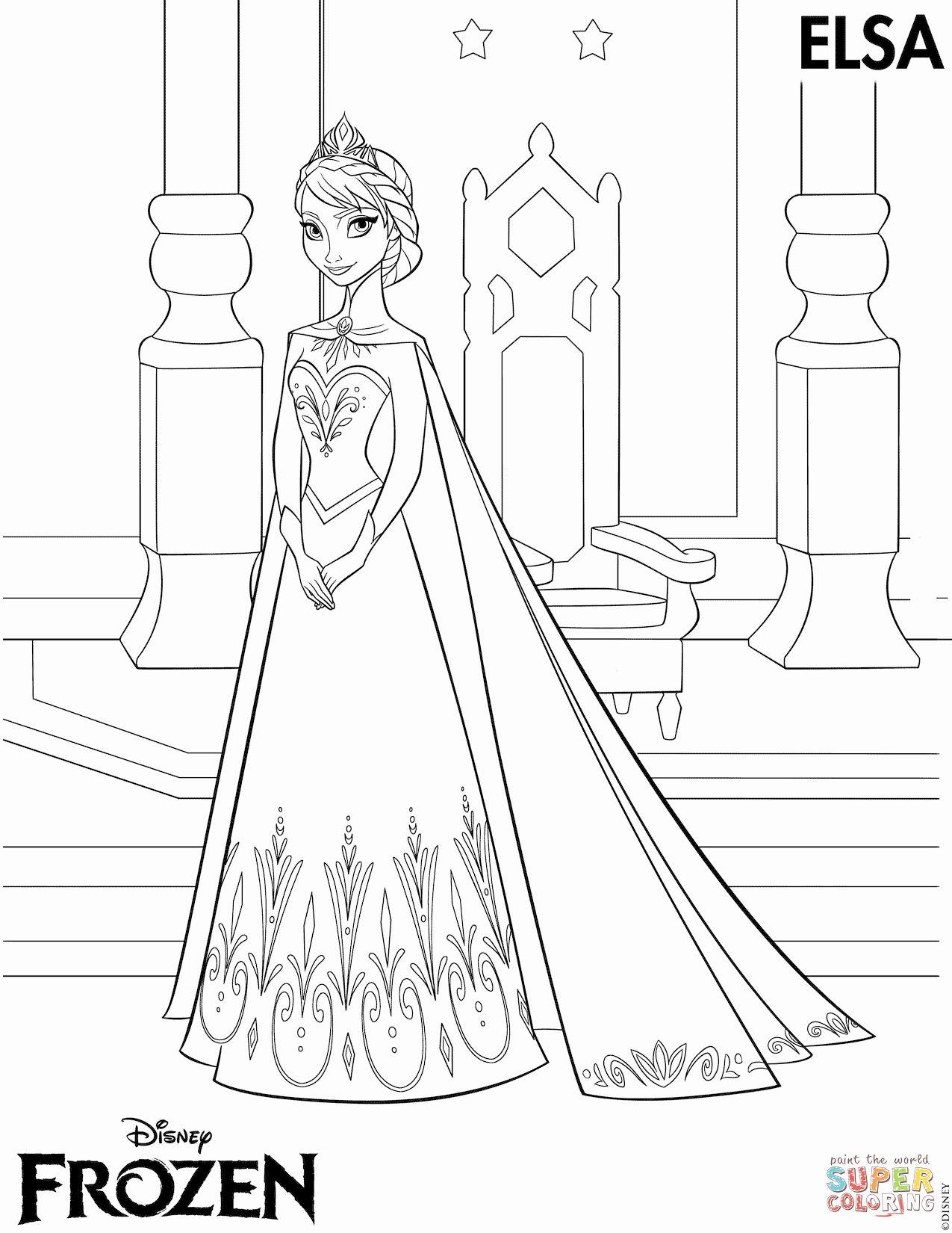 Free Elsa Coloring Page Awesome Elsa Coronation Coloring Page Frozen Coloring Pages Elsa Coloring Pages Elsa Coloring