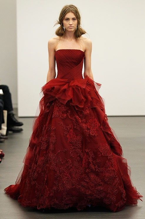 10  images about Wedding Dresses- Red on Pinterest  Red and white ...