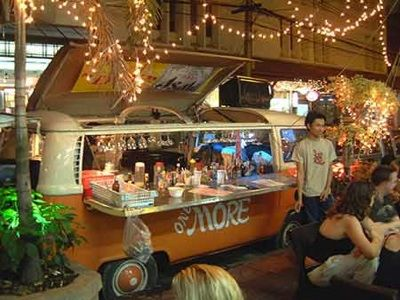 Mobile bar Thailand-- idea: add some ( light) decoration outside your food truck!!