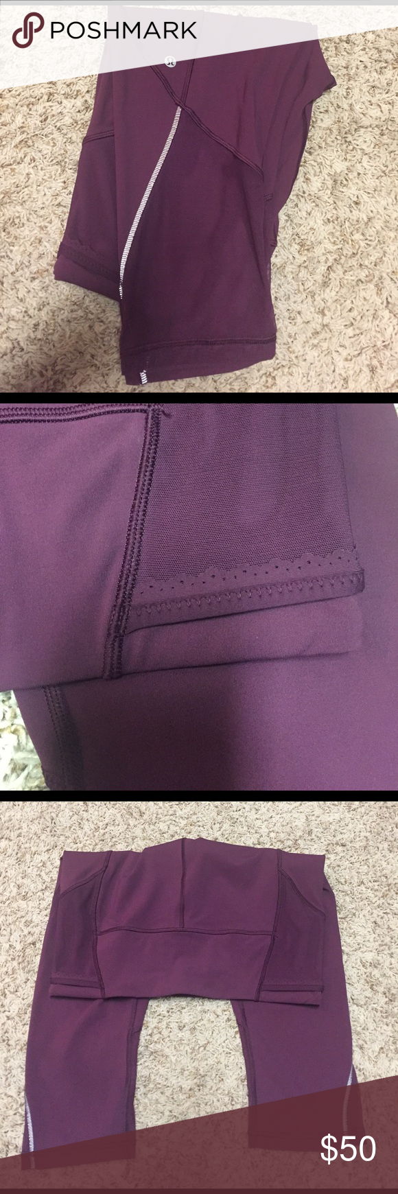 Lululemon Free Runner Crops Plum! Like new! Excellent condition!!! High Rise. Full On Luxtreme! lululemon athletica Pants