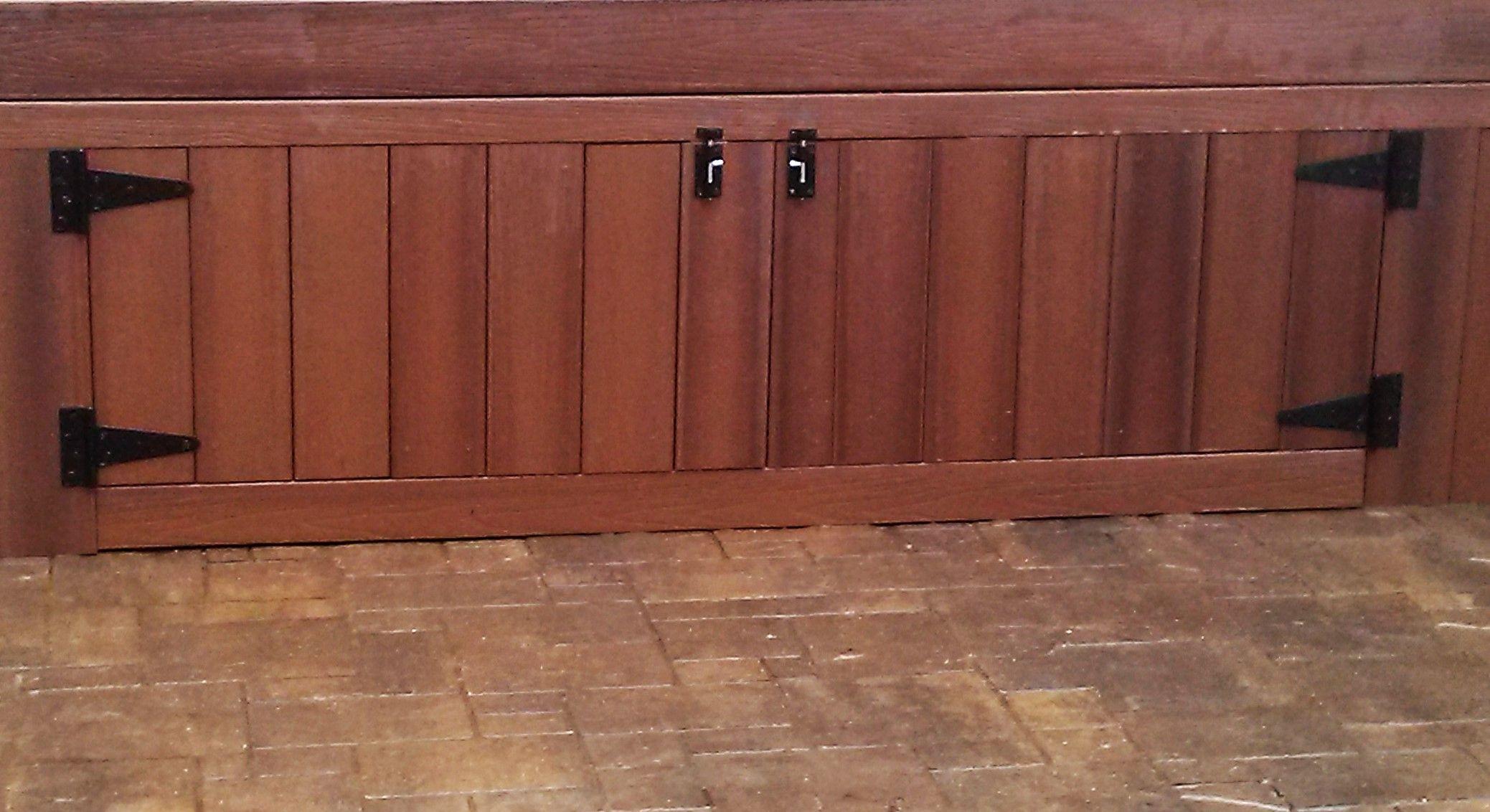 Create Escape Woodbine Add Some Storage With Deck Skirting And Access Doors Deck Skirting Door Decks Custom Decks