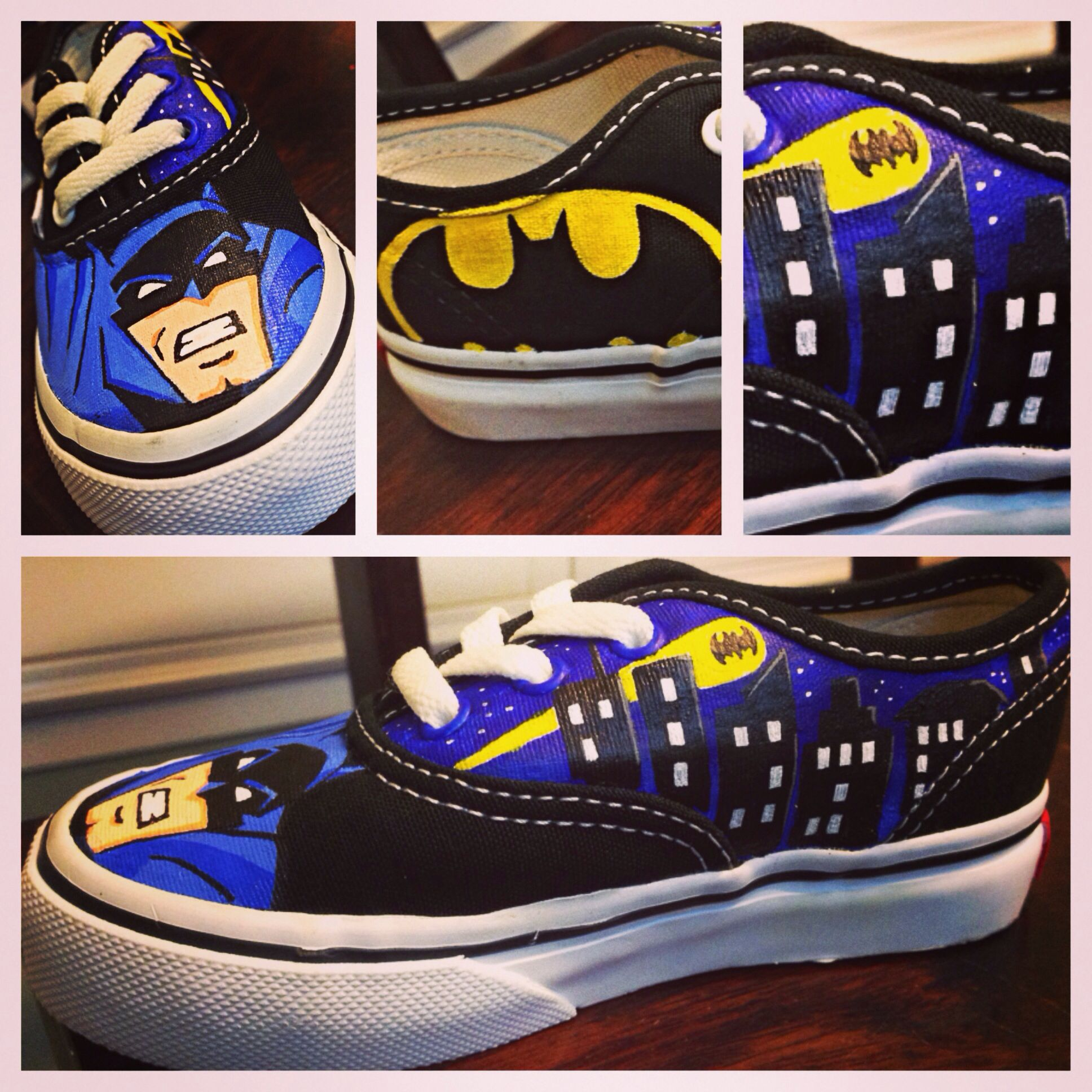cddcde7999e7 Custom Batman Authentic Vans toddler sz 8