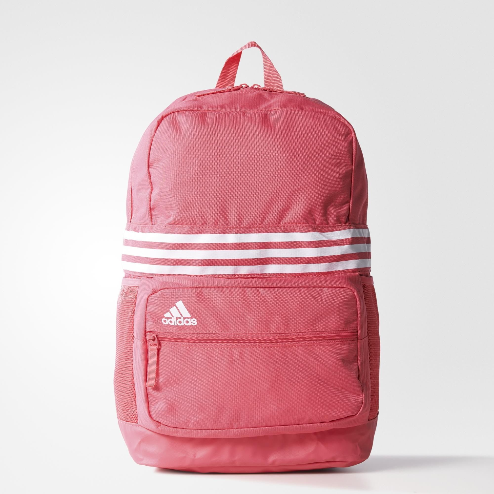 adidas 3 stripes backpack pink