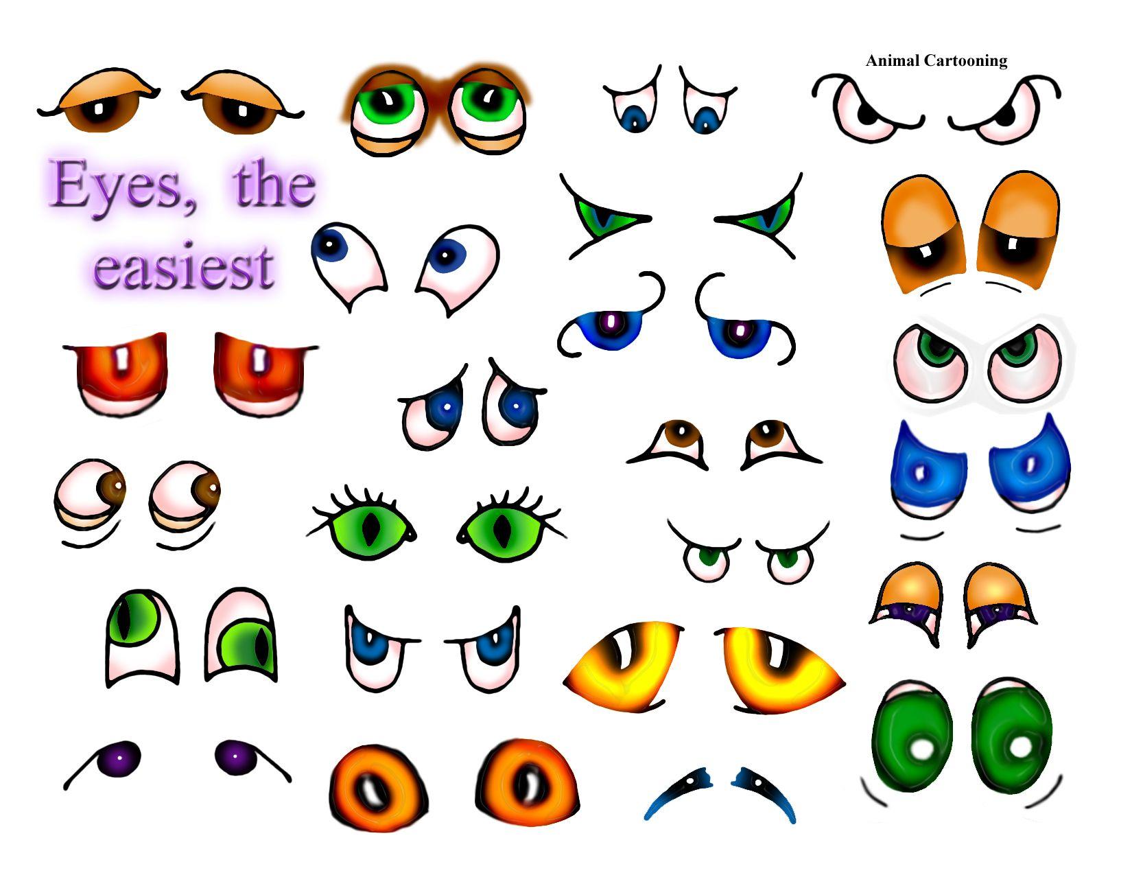 Cartoon Animal Eyes Drawings Drawing Lessons Doodle Drawings