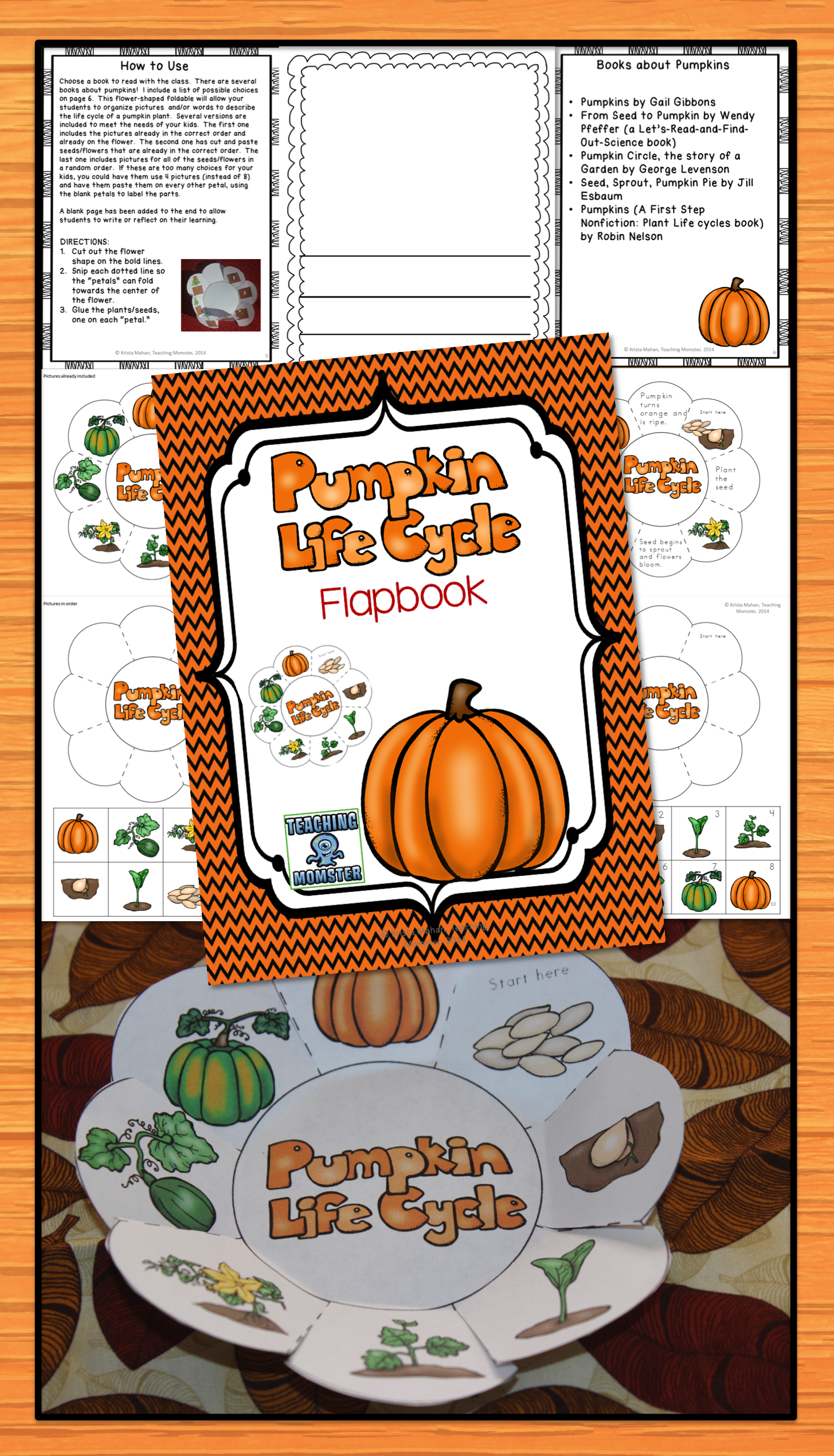 Foldable Activity That Allows Students To Put The Pumpkin