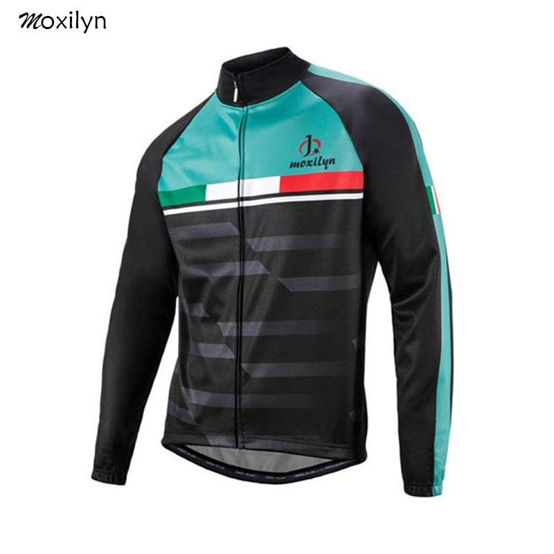 Moxilyn Cycling Jersey Top Long Sleeve Breathable Spring For Men Roda Bike  Cycling Wear Maillot Ciclismo Clothes Blue And Black 4d34ad88d