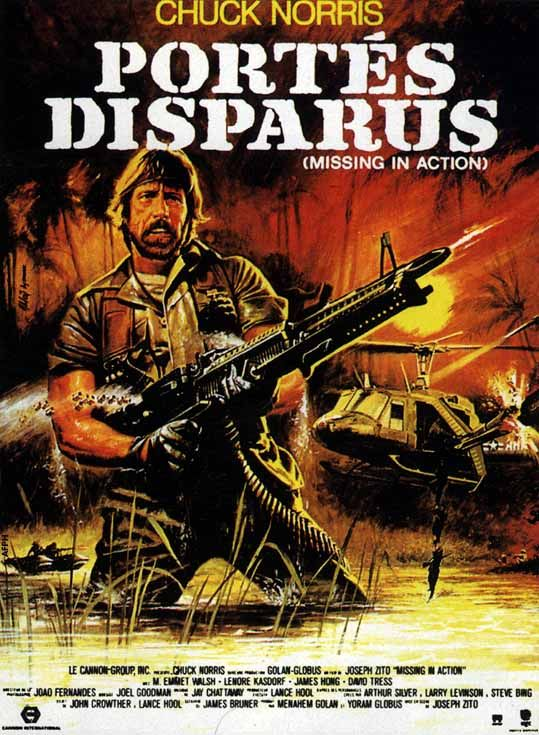 Missing in Action French Movie Poster Missing in Action