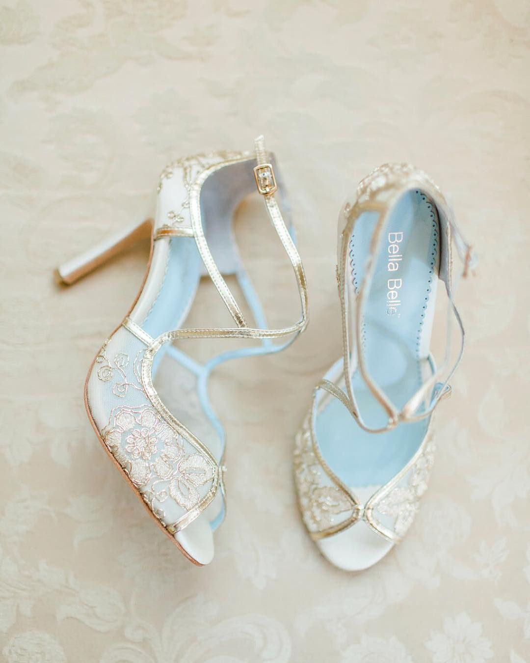 Gold Embroidered Wedding Pumps From Bellabelleshoes With Your
