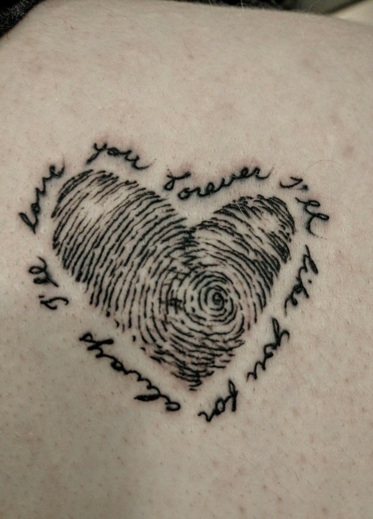 I Ll Love You Forever I Ll Like You For Always Thumbprint Tattoo