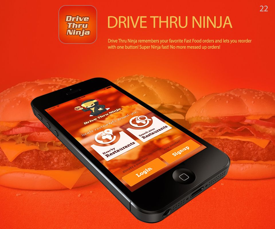 Drive Thru Ninja Mobile app, Fast food, Mess up