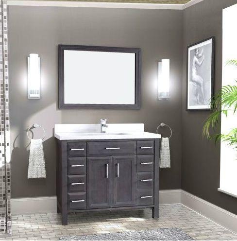 Art Choice 42 Bathroom Vanity French Gray Finish