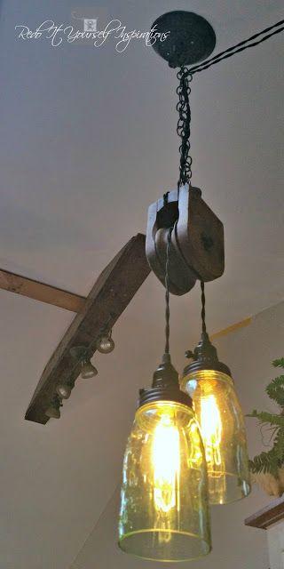 Diy pulley light fixture