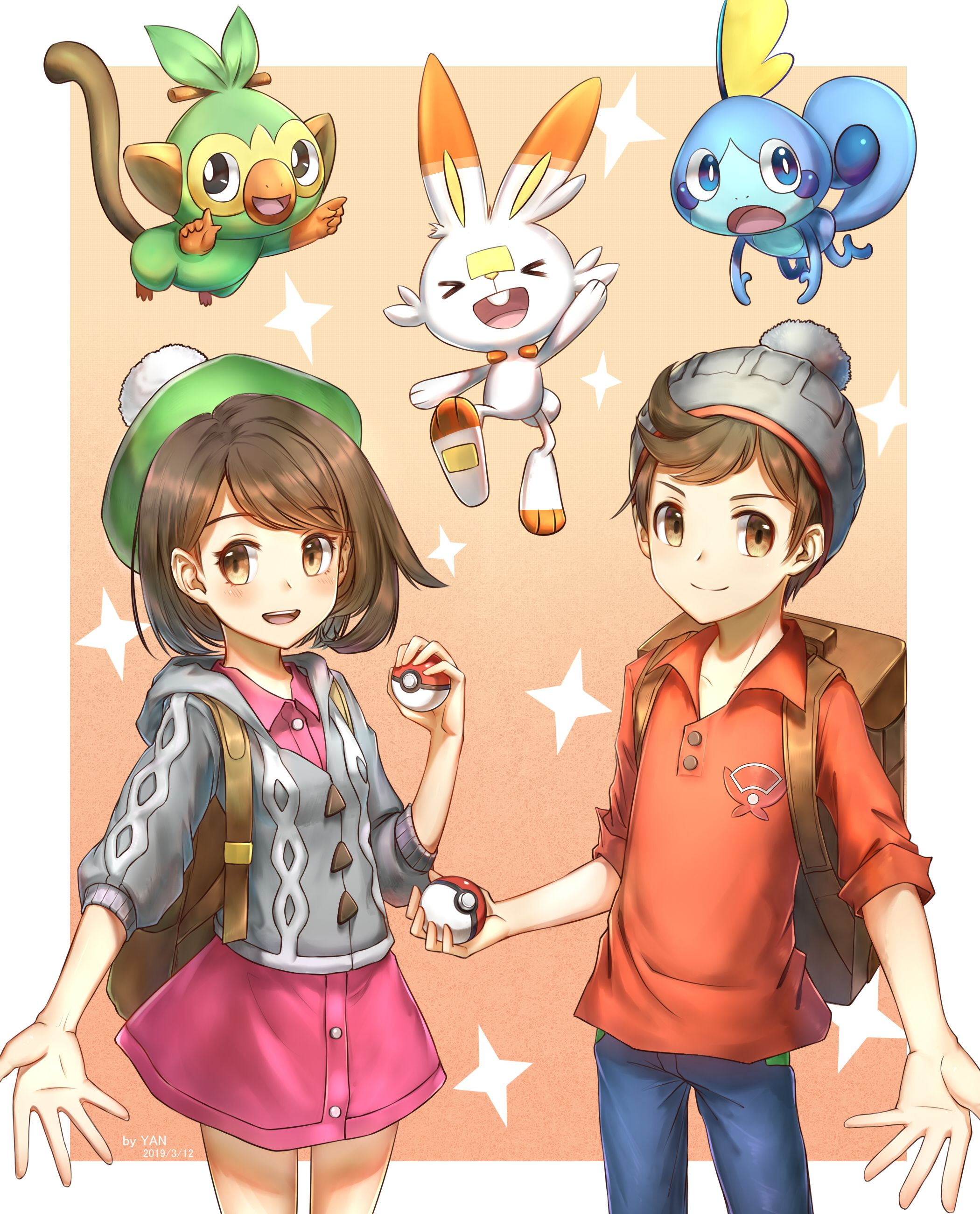 Pokemon Sword and Shield Male and Female Protagonists