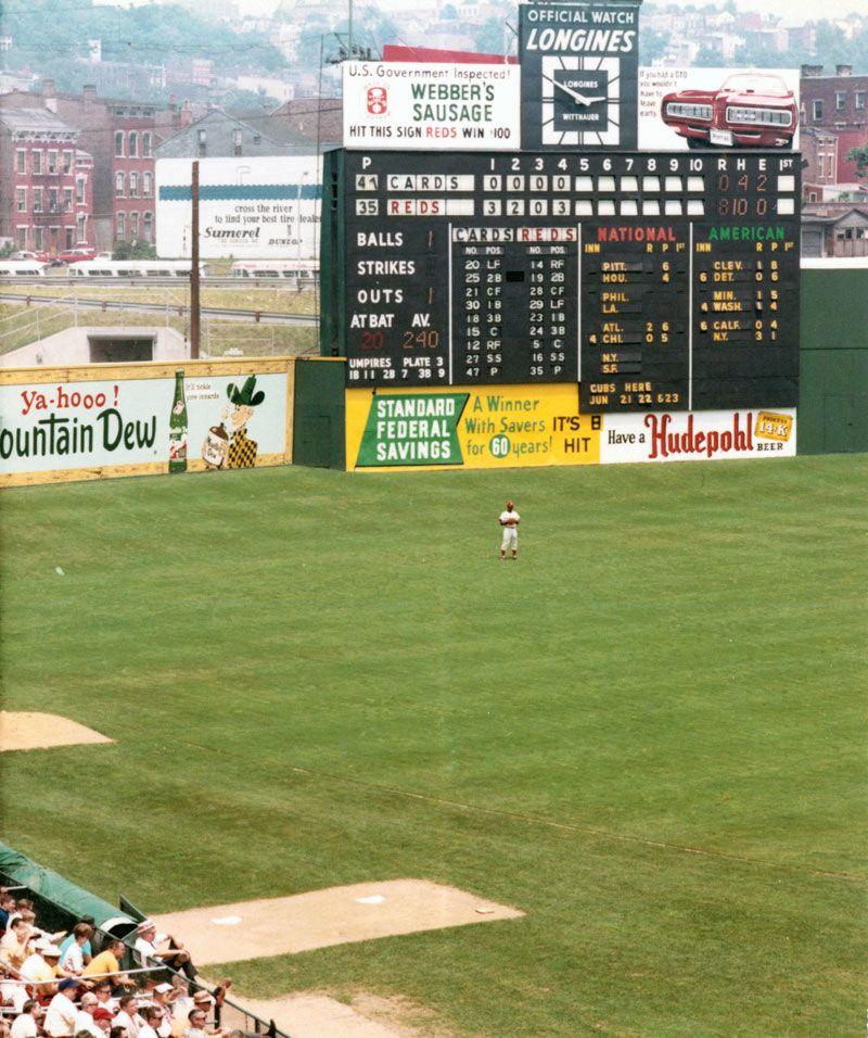 Crosley Field Cincinnati Ohio Team Names While At Crosley Field Cincinnati Reds Red Legs Red Stockings Baseball Park Baseball Stadium Baseball