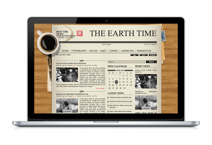 Old Newspaper Wordpress Theme - love the coffee up and the butcher ...