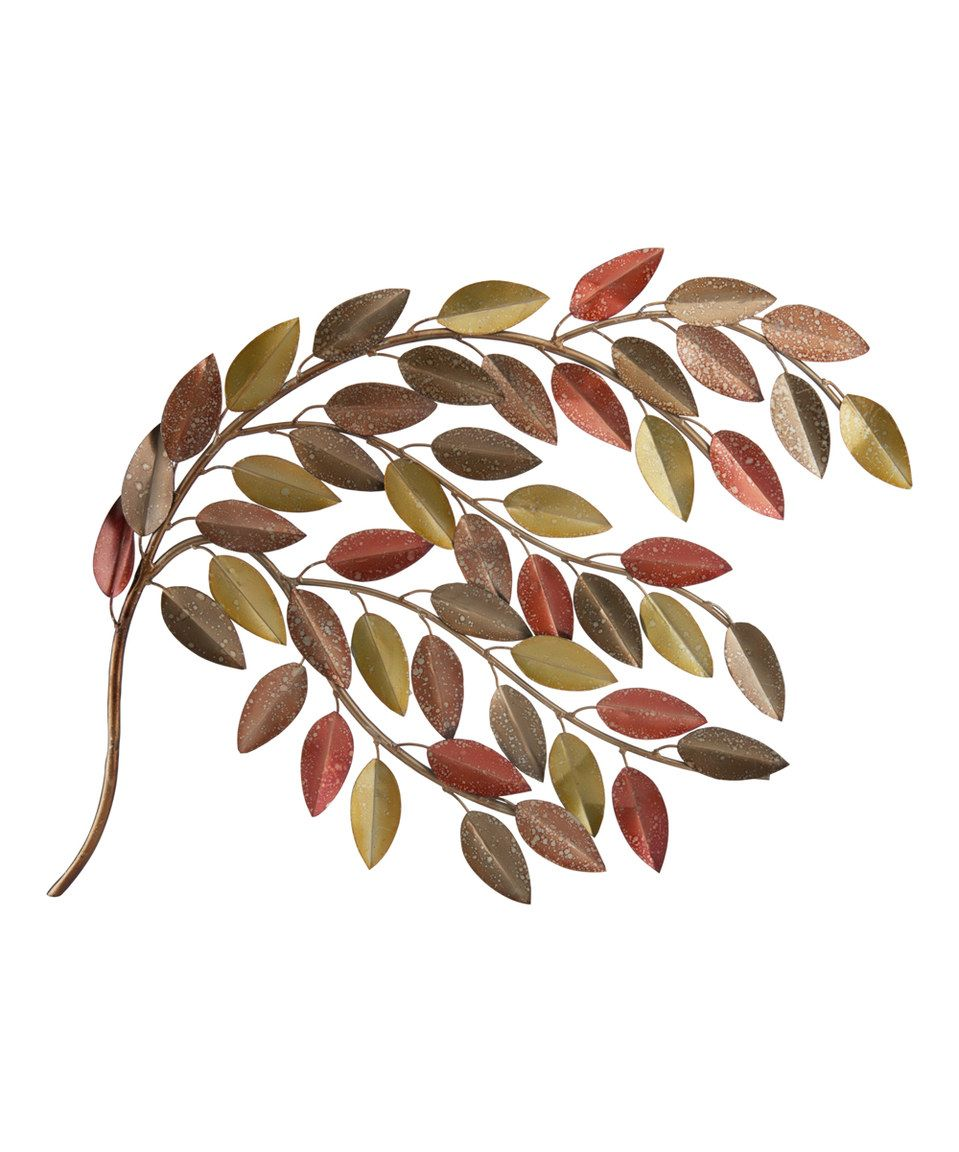 This elements fall leaf branch metal wall art by lifetime brands is