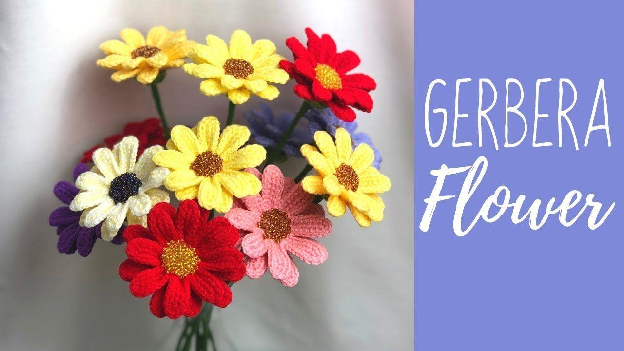 Como Hacer Crochet Una Flor De Gerbera Flores De Croche Rosas De Croche Modelos De Folha De Croche