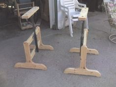Unique sawhorses - by russv @ LumberJocks.com ~ woodworking community