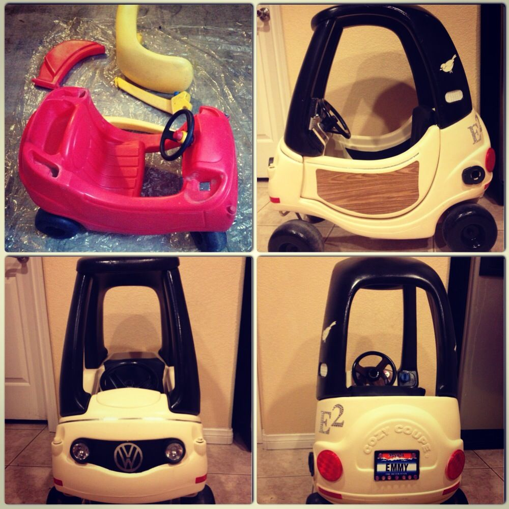 Hello kitty car toys r us  cozy coupe restoration  Élolo projet  Pinterest  Cozy coupe and Coupe