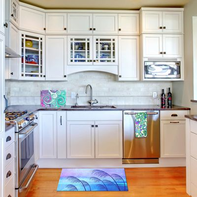 Add an artistic touch to your kitchen with Towels, Placemats and Cutting Boards from DiaNoche Designs. Choose from dazzling images, a striking pattern, or a bright pop of color to bring personality into your kitchen. www.dianochedesigns.com