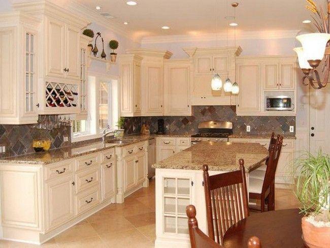 Behr Antique White Kitchen Cabinets