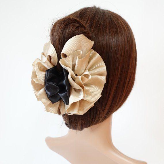 Handmade Chrysanthemum Flower Hair Jaw Claw Clip Women Hair Accessory