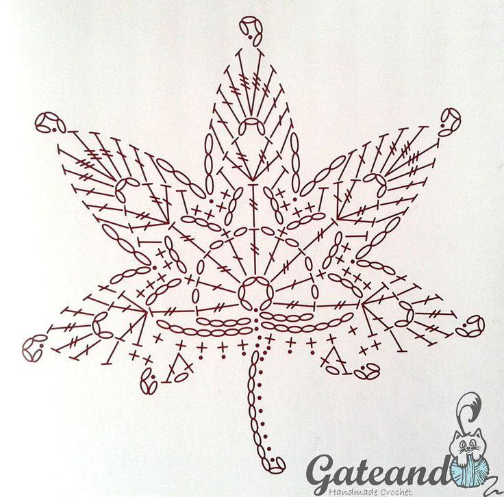 Patrón hojas otoñales crochet | moños | Pinterest | Hoja, Patrones y ...