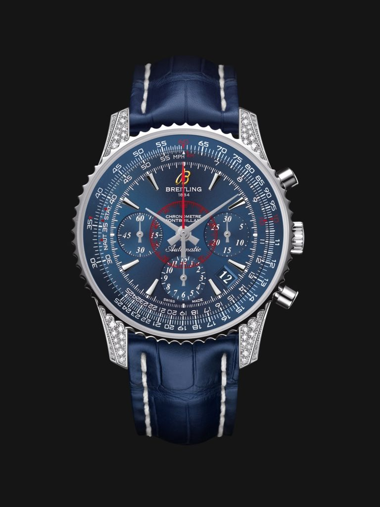 Montbrillant 01 Watch By Breitling Diamond Encrusted
