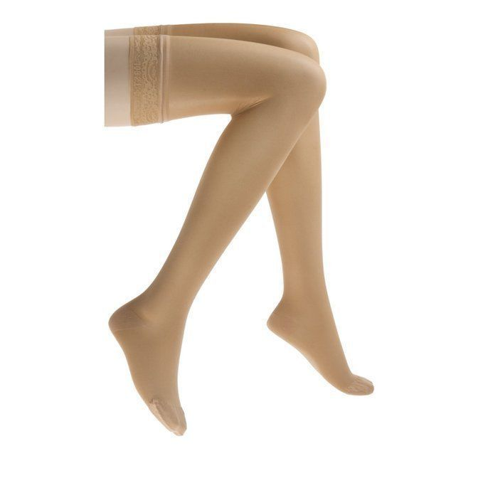 a42e2b24c Details about Jobst Ultrasheer For Women Thigh High w  Lace Spandax ...