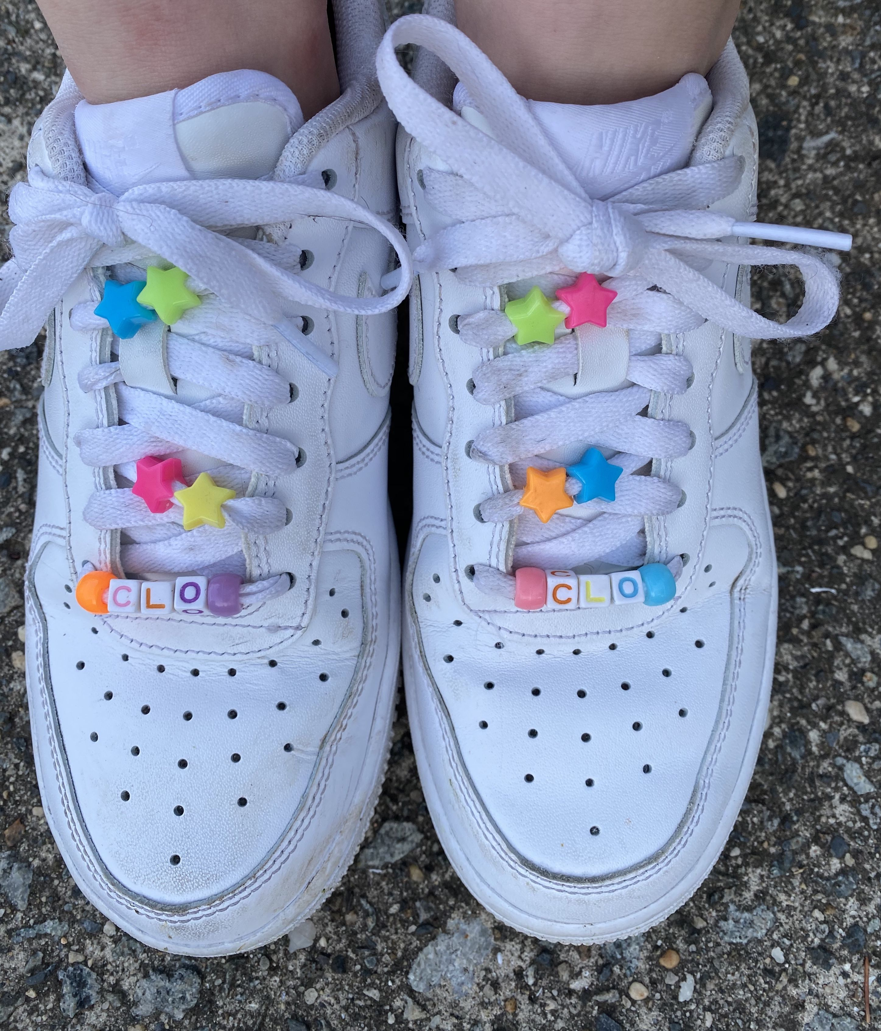 Colorful beads on shoelaces🦋 in 2020 | Aesthetic shoes ...