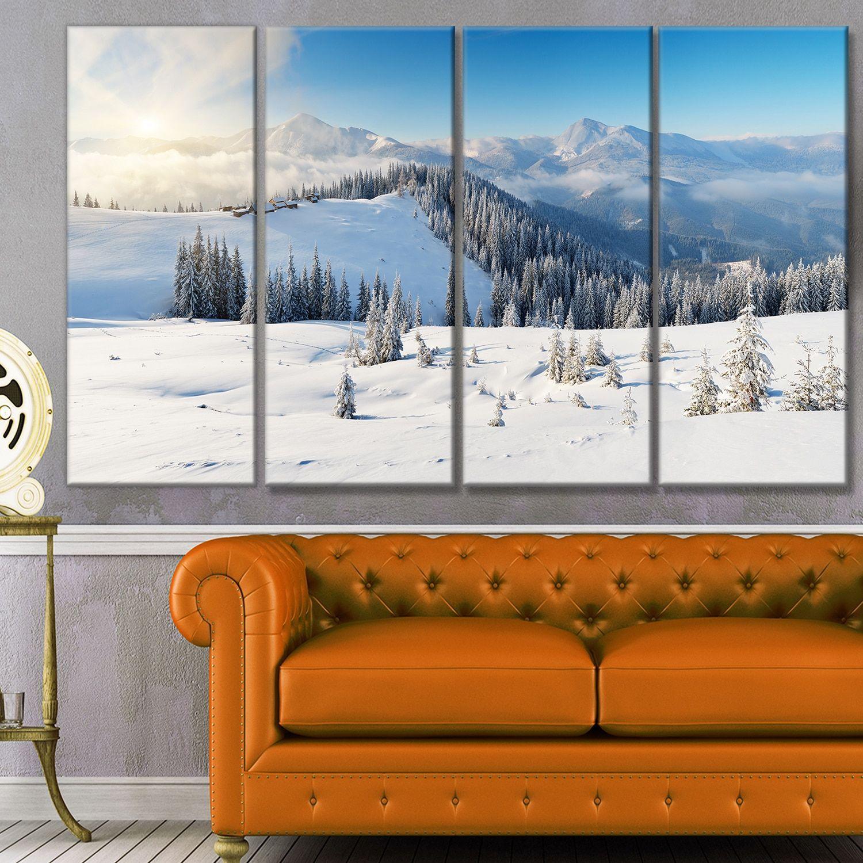 Designart usunny morning in mountainsu landscape wall artwork by