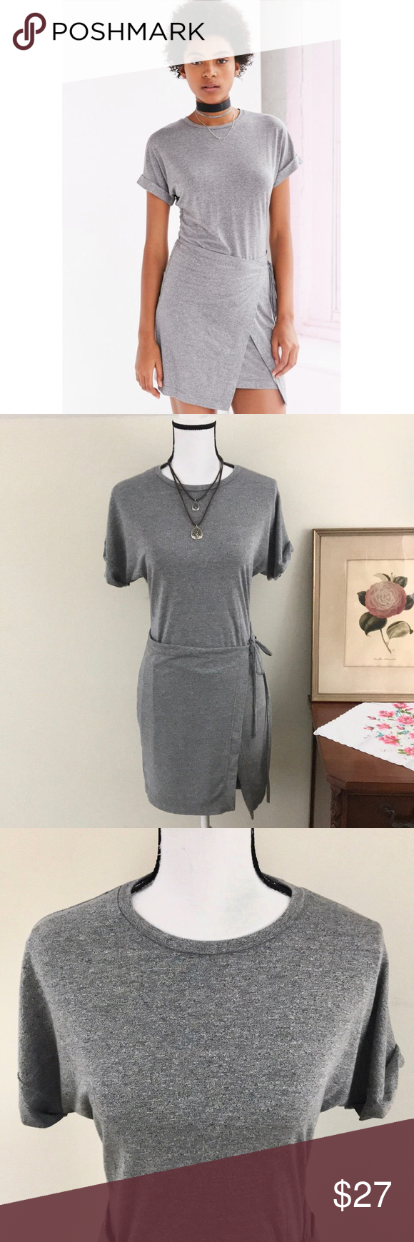 Uo Silence Noise Wrap T Shirt Dress Sz S T Shirt Dress Pullover Styling Clothes Design [ 1740 x 580 Pixel ]