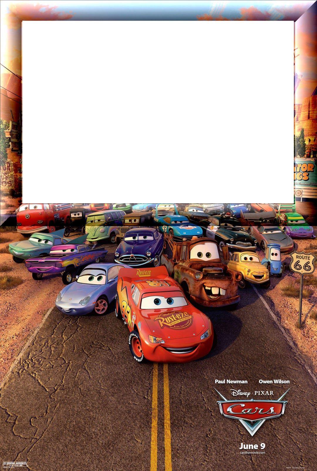 Invitaciones O Marcos Para Fotos De Cars Para Imprimir