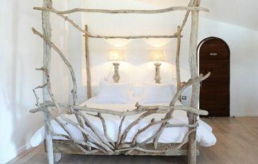 Lit Bois Flotté lits à baldaquin en bois flotté - entre mer et marais ~ créations en