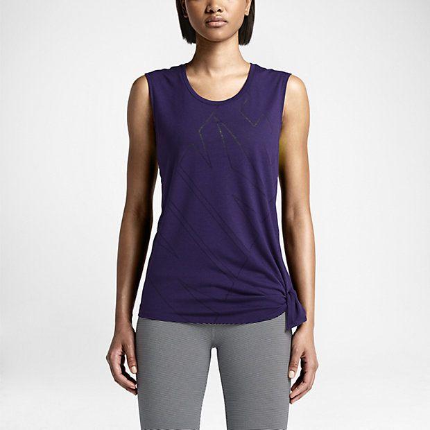 Damski T-shirt treningowy Nike Club Side-Tie Logo