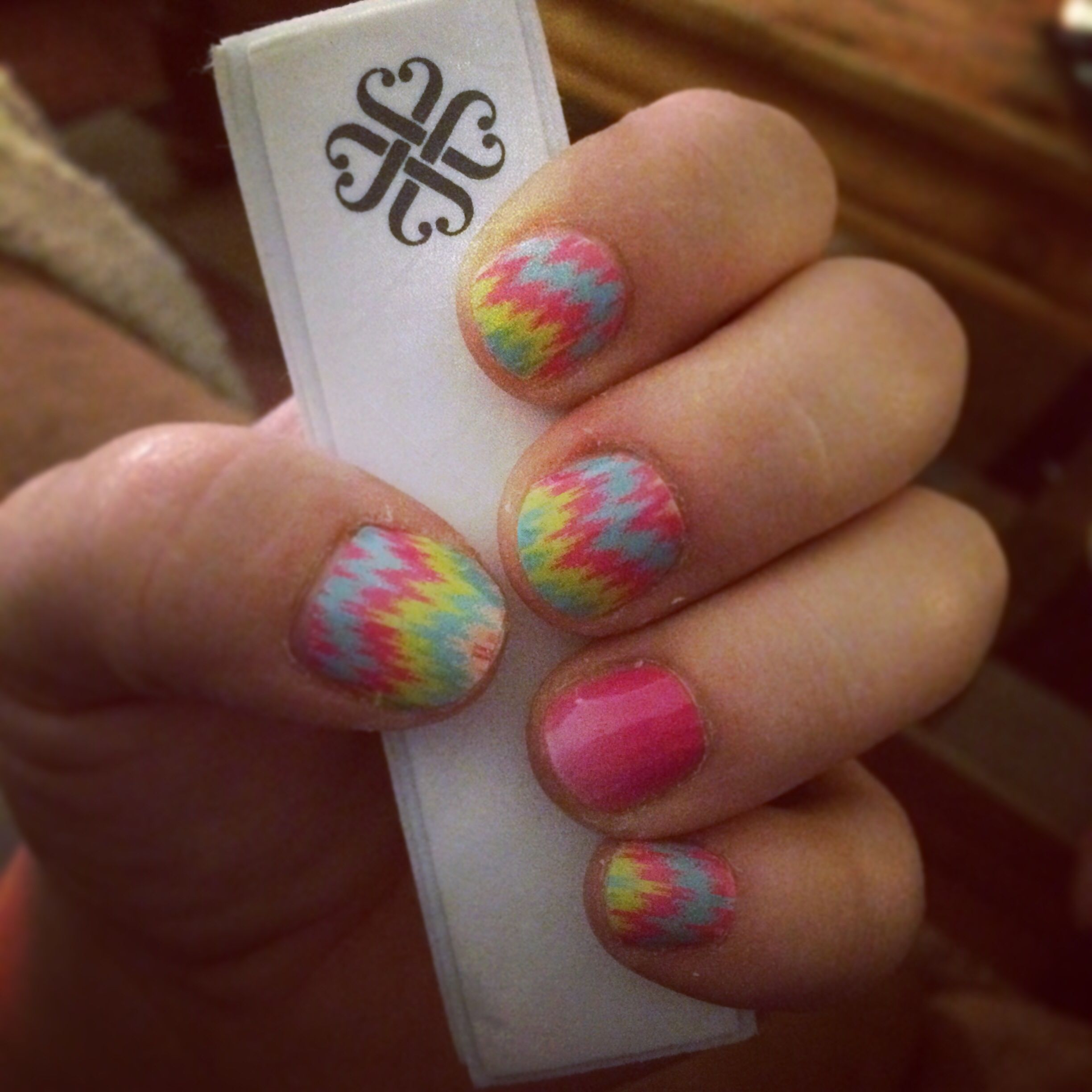 Jamberry nails Tropical Mirage and Kiss Me Ombré accent www ...