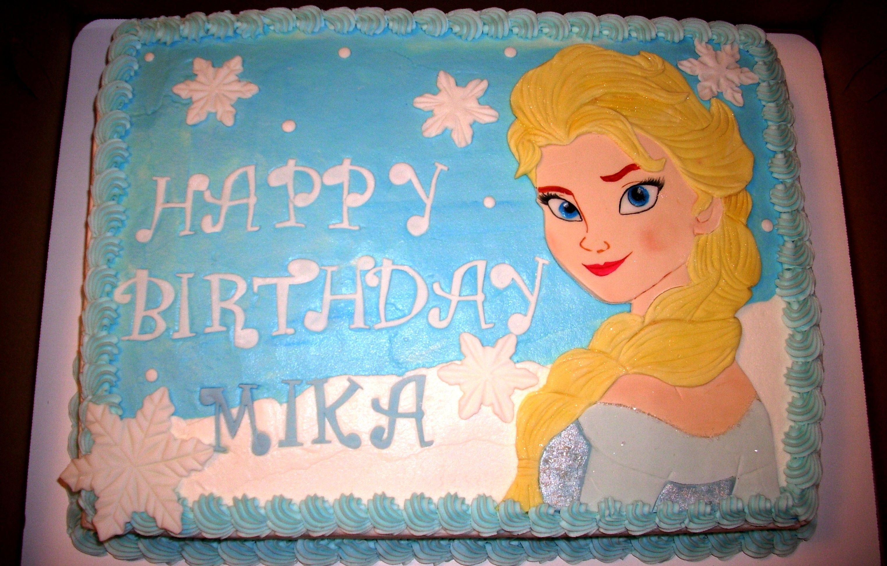 Super Elsa Cake Buttercream Icing With Mmf Decorations Frozen Elsa Funny Birthday Cards Online Benoljebrpdamsfinfo