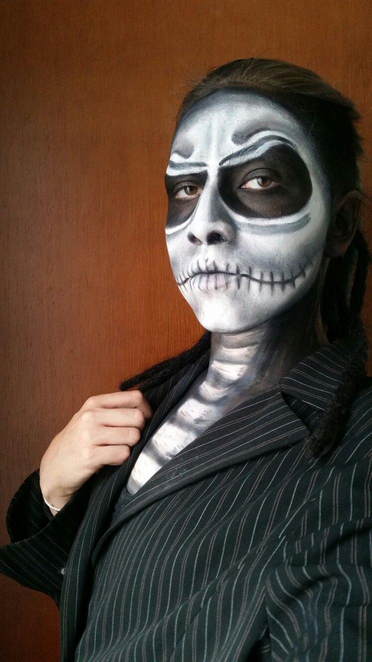 Jack Skellington Makeup Halloween face makeup, Halloween