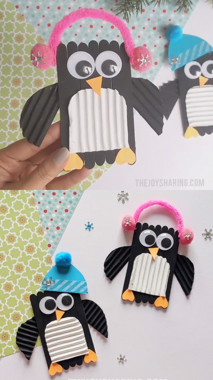 Photo of Popsicle Stick Penguin Craft