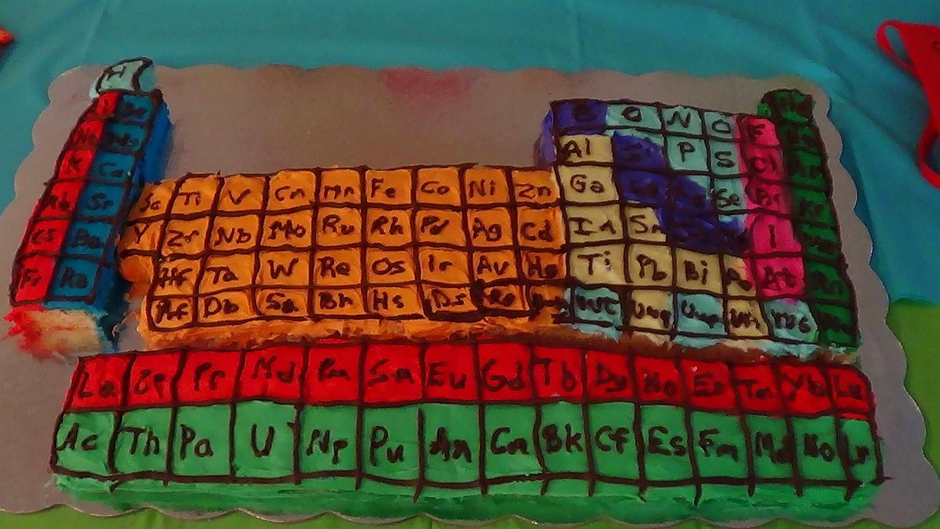 Periodic table of elements cake that i made for my sons science periodic table of elements cake that i made for my sons science birthday party gamestrikefo Choice Image