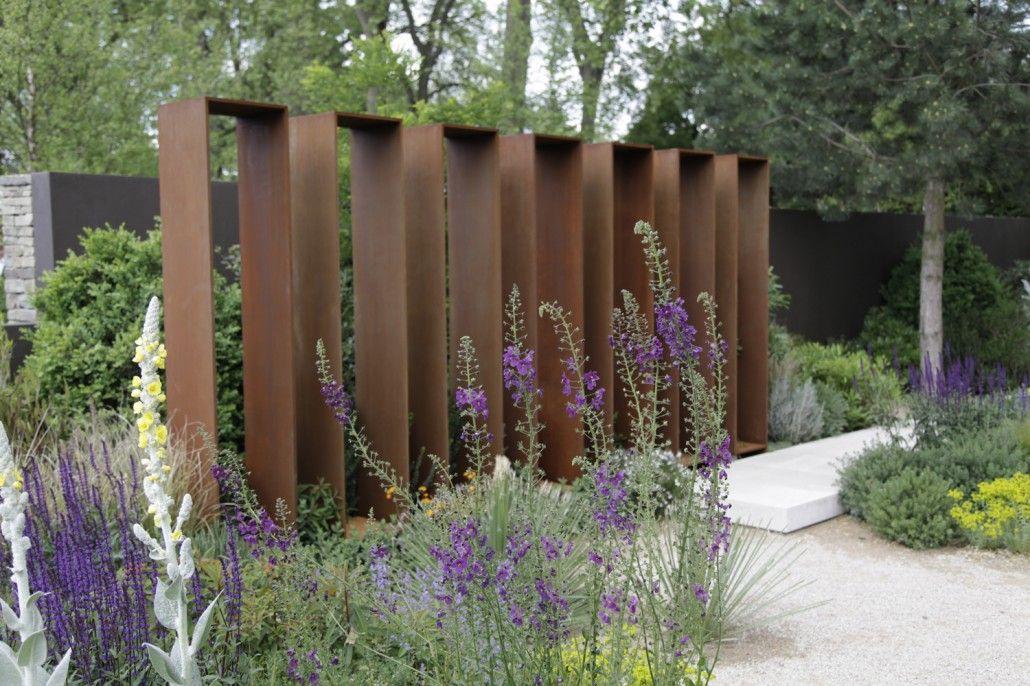 Rost  Cortenstahl \u203a Zinsser Gartengestaltung, Schwimmteiche und