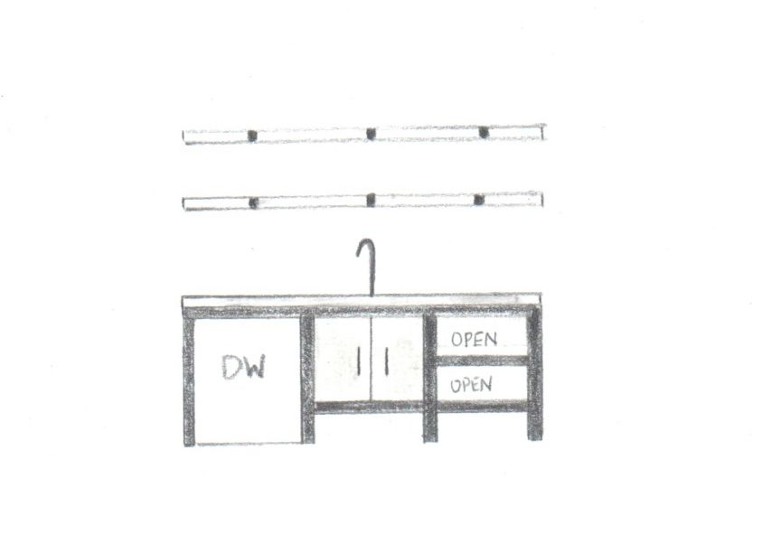 Rough sketch of right side of kitchen - not to scale -1\