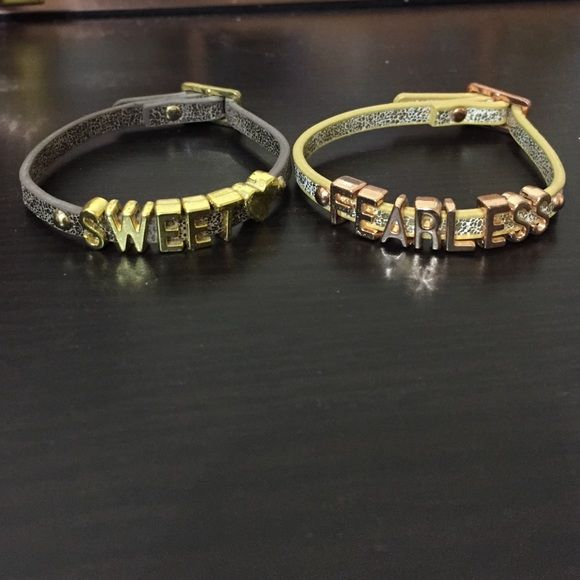 Bcbgeneration affirmation bracelet Fearless and sweet ❤️ bcbg bracelets. Like new. Price for 2 bracelets! BCBGeneration Jewelry Bracelets