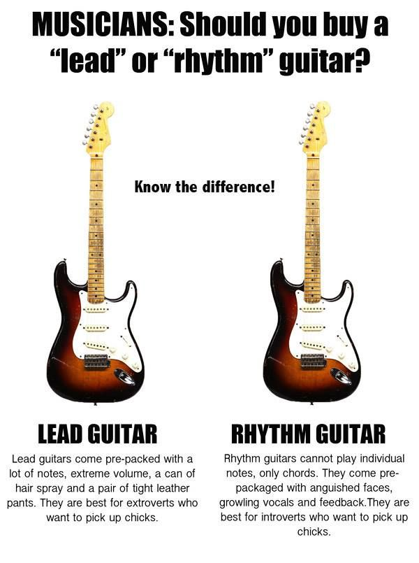 Lead or rhythm guitar | Posters & Flyers | Pinterest | Guitars