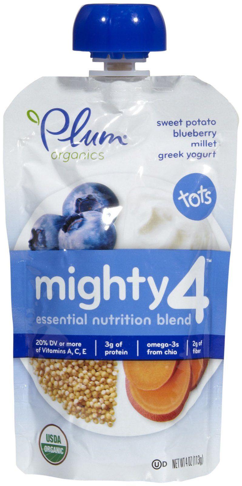 Plum Organics Mighty 4 Purees Sweet Potato Blueberry