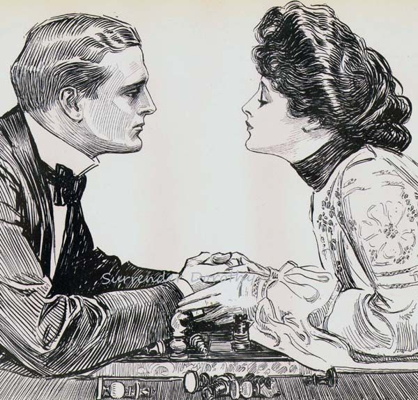 Greatest Game Charles Dana Gibson 1906 Gibson Girl Vintage Edwardian ...
